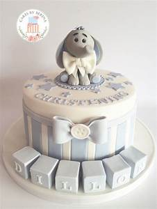 Baby Dedication Cake Designs Cute Baby Boy Blue Christening Cake With Adorable Edible