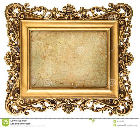 cadre de tableau d or de style baroque avec la toile photo stock image 41746170