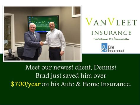You can look at the address on the map. Meet Brad's Newest Client, Dennis! - Van Vleet Insurance
