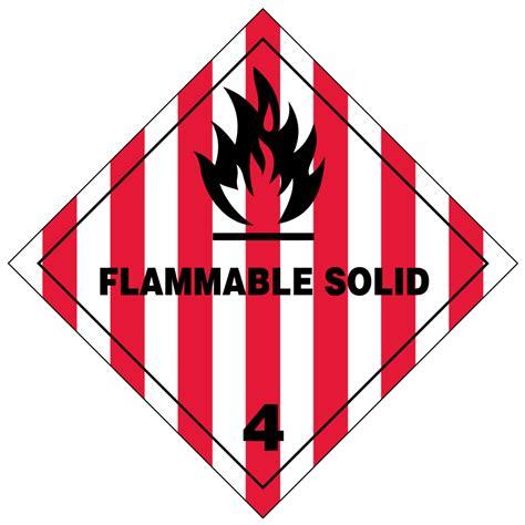 Flammable Solid Hazmat Labels Transportlabelscom