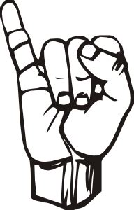 I thought this would look great with gold foil on a black tote. Sign Language I clip art (107899) Free SVG Download / 4 Vector