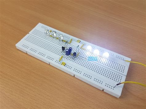 led knight rider circuit led running light led chaser circuit two way running led