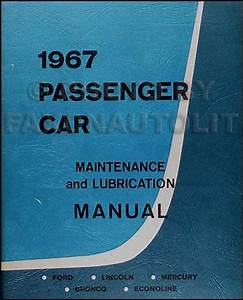 1967 Repair Shop Manual Original Mustang Fairlane Ranchero