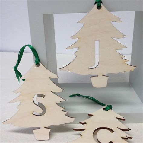 initial letter christmas tree decorations by hickory
