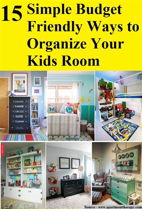 15 Simple Budget Friendly Ways To Organize Your Kids Room