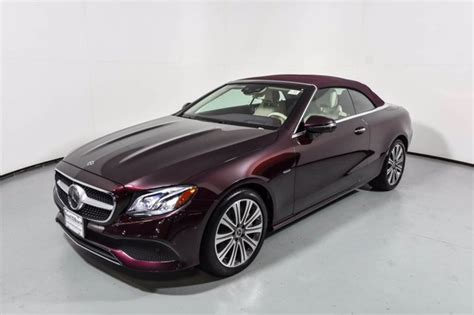 Vehicles depicted are stock images which can be purchased new or as a cpo vehicle, subject to availability. Certified Pre-Owned 2018 Mercedes-Benz E 400 4MATIC Cabriolet   RUBETITE RED M U17429