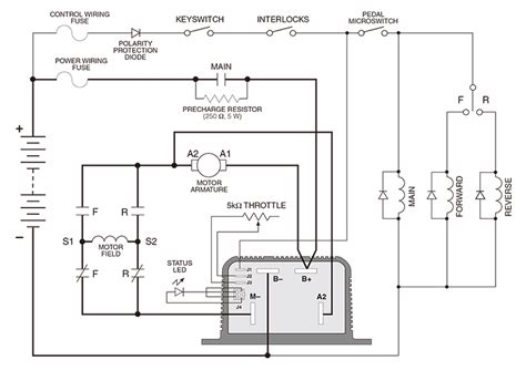 Club Car Controller Diagram by Curtis 36 48v Pmc 1204m 5305 Dc Series Motor Controller