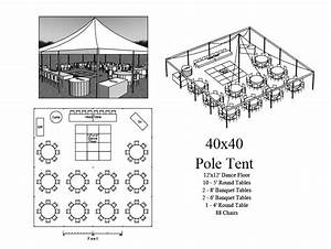 Seating Layout 40x40 Tent 88 Chairs