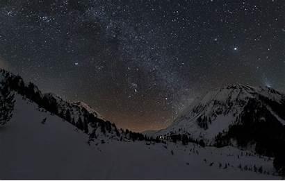 Stars Mountains Landscape Background Desktop Backgrounds Wallpapers