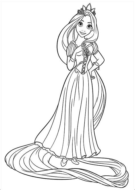 beauty nails rapunzel tangled coloring pages