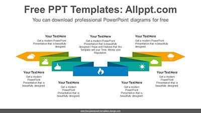 horizontally twisted ribbon powerpoint diagram templates