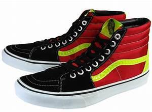 Vans SK8 Hi Black Red Neon