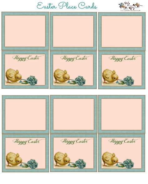 easter place cards printable place cards place cards