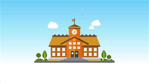 2d Animated School Opening Scene