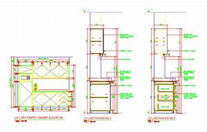 Details Dry Pantry - Pantry Cabinet Details DWG Detail for
