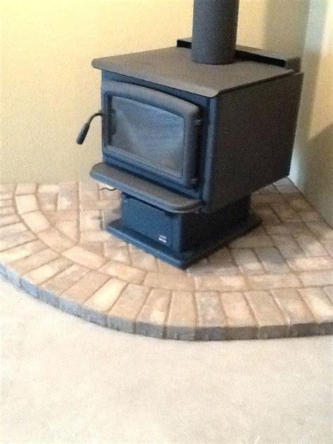 pellet stove hearth pad ideas pellet stove decorative log