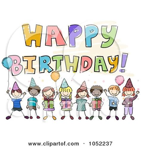 happy birthday greeting with doodle kids posters art prints by bnp design studio interior