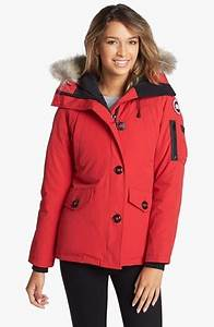 Red Parka Canada Goose Montebello Down Parka With Genuine Coyote Fur Trim Where To Buy How