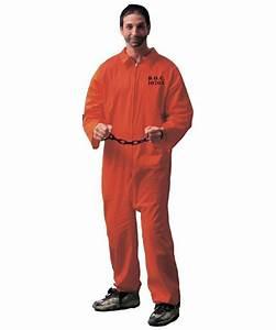 Prisoner Adult Costume Orange - Men Halloween Costumes