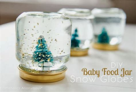 Diy Baby Food Jar Snow Globes Country Kitchen Wall Clocks Kidkraft Espresso Accessories Martins Red Range How To Modernize Cabinets Plastic Storage Boxes Island Modern Tile