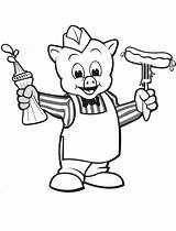 Sausage Wiggly Piggly Sauce Coloring Printable Face Coloringonly sketch template