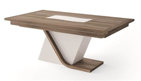table bois pied central images
