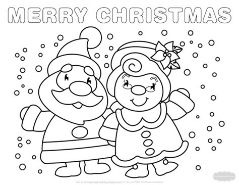 Santa And Mrs Claus Coloring Pages At Getcolorings.com