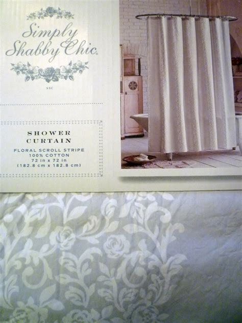 shabby chic curtains nz simply shabby chic gray floral scroll shower and 50 similar items