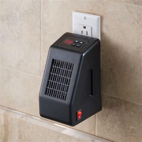 The Wall Outlet Space Heater   Hammacher Schlemmer