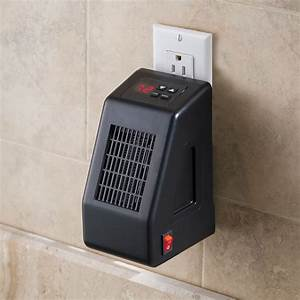 The wall outlet space heater hammacher schlemmer for Space heater for bathroom
