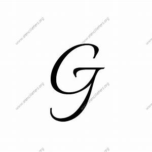 connected calligraphy uppercase lowercase letter With upper and lowercase letter stencils