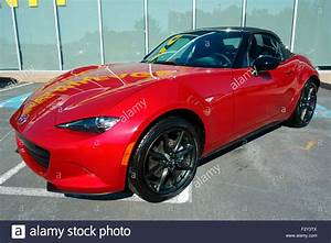 Red 2016 Mazda MX 5 Roadster Sports Car Automobile Vehicle