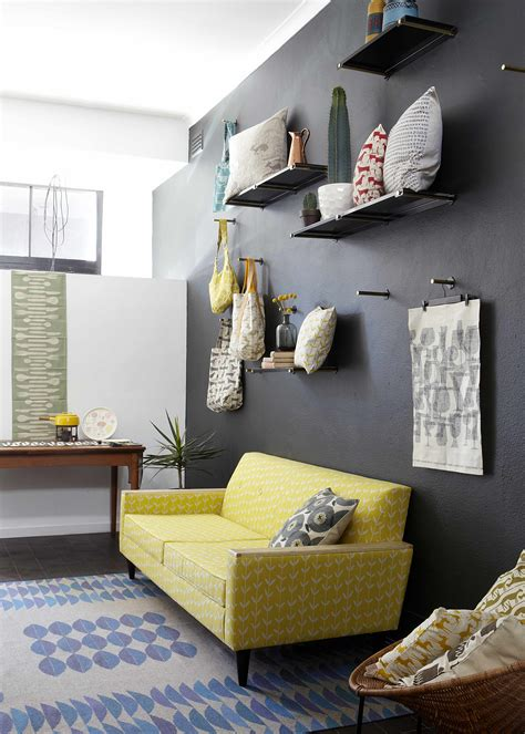 gray and yellow furniture how to design with and around a yellow living room sofa