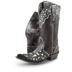 womens boots black 39 s ariat 13 quot presidio cowboy boots black 233437 cowboy boots at