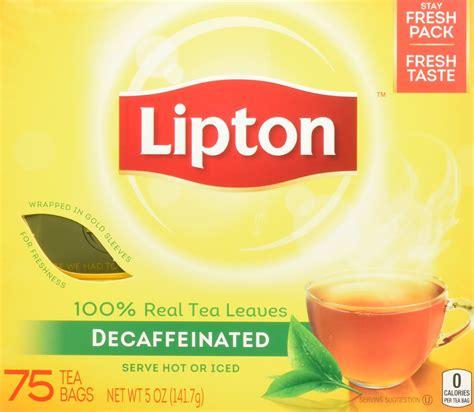 Amazoncom Lipton Green Tea Decaffeinated Honey Lemon