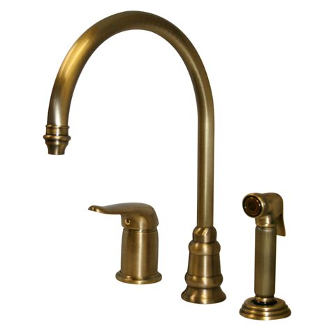 Whitehaus Wh18664 Three Holes Gooseneck Kitchen Faucet