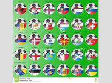 Flags Of The Europe With Soccer Ball Stock Vector Image