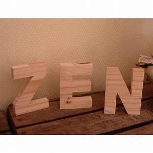 Lettre En Bois A Poser : lettre en bois 30cm ~ Teatrodelosmanantiales.com Idées de Décoration