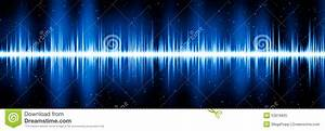 Blue Frequency Diagram Stock Illustration