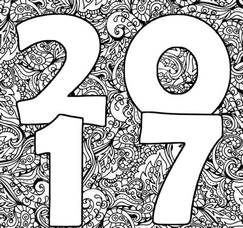 Gelukkig Nieuwjaar 2017 Kleurplaat by Kleurplaten Volwassenen Nieuwjaar