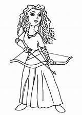 Coloring Merida Bow Pages Arrow Princess Disney Prepare Horse Take Getcolorings Printable Prep Getdrawings Colorings sketch template