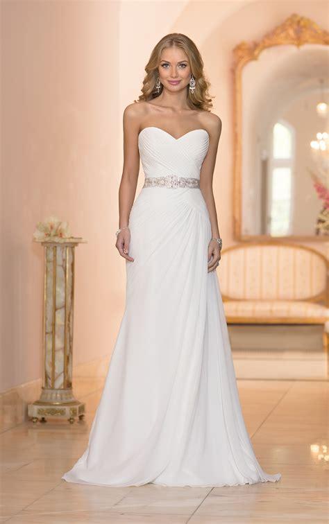 Strapless Sheath Chiffon Bridal Gown Stella York Wedding