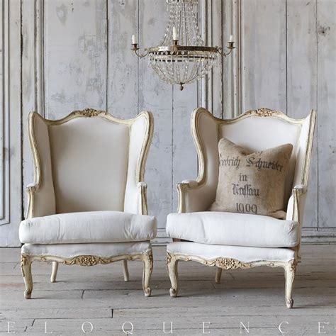 eloquence furniture eloquence 174 distressed vintage wing back louis xv
