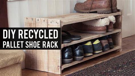 diy pallet shoe rack youtube