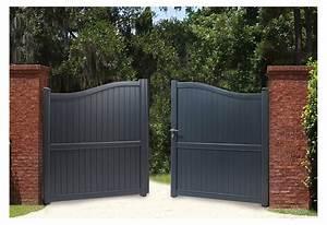 Portail En Aluminium : portail en alu barriere alu exterieur sfrcegetel ~ Melissatoandfro.com Idées de Décoration