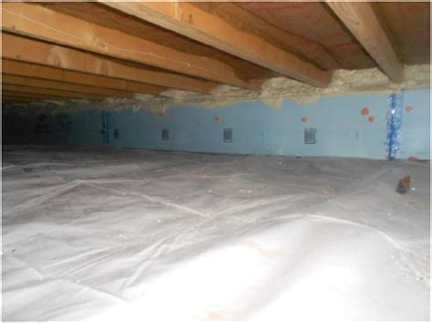 Foam Insulation Crawl Space Dirt Floor by Basement Moisture Management Poly Ground Cover Rook Energy
