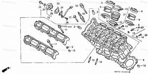 Honda Motorcycle 2002 Oem Parts Diagram For Cylinder Head