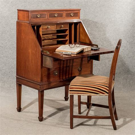 bureau writing desk antique writing desk bureau edwardian mahogany antiques
