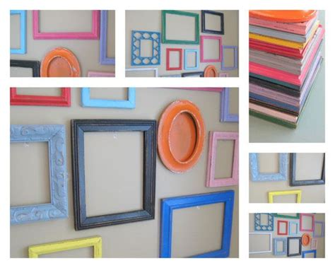 Playroom Wall Collage Frames Featured In Hgtv Mag, Mix Of