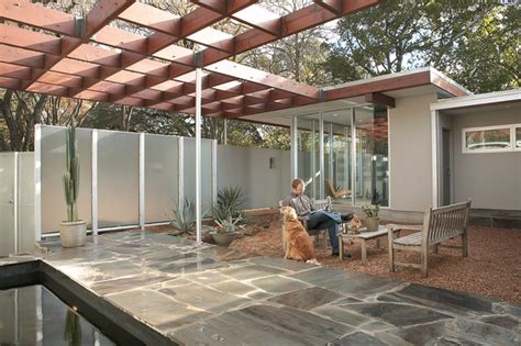 tarrytown residence midcentury patio by